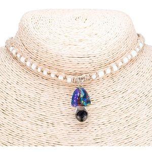 Womens glass pendants for hemp necklaces on poshmark glass mushroom pendant on hemp choker mozeypictures Gallery